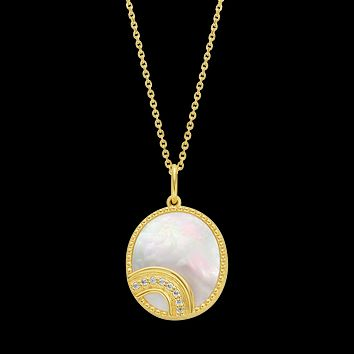 Somewhere Over The Rainbow Mother Of Pearl Pendant