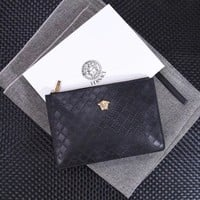 VERSACE 2018 HOT STYLE LEATHER ZIPPER HAND BAG