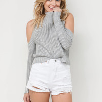 Breeze Through Cold Shoulder Sweater