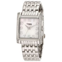 Caravelle 43L138 Women's White MOP Dial Steel Bracelet Crystal Watch