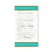 kate spade new york: small notepad - library card