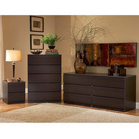 Walmart: Laguna Double Dresser, 5-Drawer Chest and Nightstand Set, Lacquered Espresso