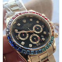 ROLEX Tide brand diamond mechanical watch color diamond men and women waterproof quartz watch #1