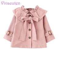2017 Autumn Girls Jacket Coat Girls Outerwear Baby Girl Clothes New Baby Long Sleeve Jacket Trench Coat