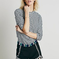 Free People Womens Zoe Embrodiered Brief