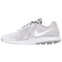 Nike Performance FLEX EXPERIENCE RUN 5 - Competition running shoes - white/wolf grey - Zalando.co.uk