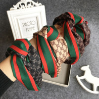 Gucci Printed silk headband F