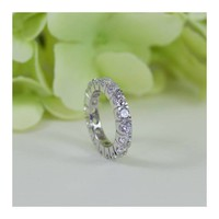 2.50 Ct Fine Quality Cubic Zirconia Eternity Wedding Band, Wedding Band Ring
