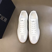 dior men fashion boots fashionable casual leather breathable sneakers running shoes 76
