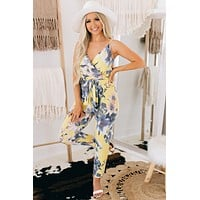 Love Notes Floral Jumpsuit (Yellow Multi)