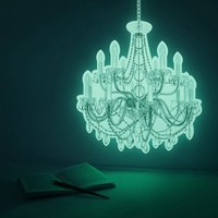 Luminous chandelier, CRYSTAL PALACE (glow in the dark deco wall sticker) from i3 Lab. [i-cubed-lab] design studio | Made By i3Lab. [i-cubed-lab] | £49.00 | BOUF
