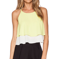 Elizabeth and James Lila Top in Yellow
