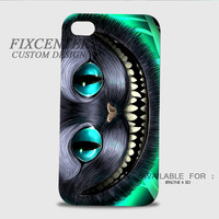 Alice in Wonderland Smile Cheshire Cat 3D Image Cases for iPhone 4/4S, iPhone 5/5S, iPhone 5C, iPhone 6, iPhone 6 Plus, iPod 4, iPod 5, Samsung Galaxy (S3, S4, S5, S6) by FixCenters