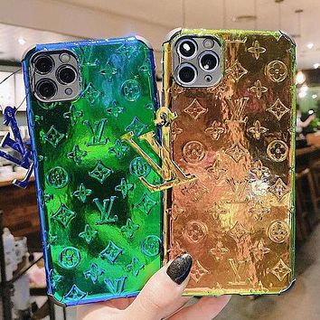 Louis Vuitton LV iphone11 mobile phone shell Apple X tide brand female models fully surrounded XsMax/XR set 7plus/8p discoloration