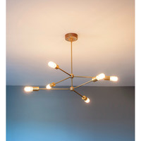 Annunciation Chandelier with 3 Downrod Options and Bulbs Included