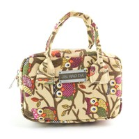 Women Fashion Small Owl Pattern Tote Casual Shoulder Bag