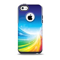 The Rainbow Hd Waves Skin for the iPhone 5c OtterBox Commuter Case