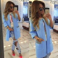 Open Stitch Trench Coat