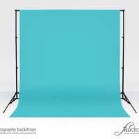 """Photography Vinyl Backdrop Photo Backdrop Comes In """"Blue Curacao"""" Perfect For Infant, Baby, Kids, Photography Shoots Background (FD1814)"""