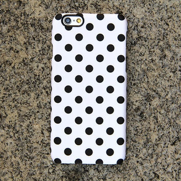 Polka Dots iPhone 6 iPhone 6 plus Case Black and White iPhone 5S 5 iPhone 5C iPhone 4S/4 Case Samsung Galaxy S6 edge S6 S5 S4 Case 052