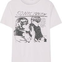 R13 - Sonic Youth printed cotton and cashmere-blend jersey T-shirt