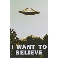 UFO I Want to Believe X-Files TV Show Poster 24x36