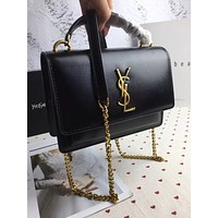 ysl women leather shoulder bags satchel tote bag handbag shopping leather tote crossbody 175