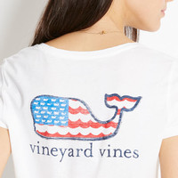 Wave Flag Whale Graphic Pocket Tee
