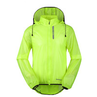 Men's Riding Hooded Raincoat Windproof Light and Thin Coats Green