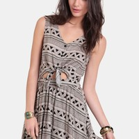 On The Hunt Printed Dress