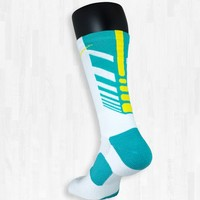 White, Turquoise, and Yellow Sequalizer | Rock 'Em Apparel