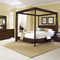 Scandinavia Furniture Metairie New Orleans Louisiana offers Contemporary & Modern Furniture for your Living Room - LIGNA - CANALI MOCHA CANOPY BED - ScandinaviaFurniture.com