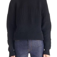 Givenchy Removable Collar Wool Blend Sweater   Nordstrom