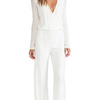 Alexis York Cross-Over Jumpsuit in White