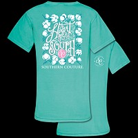 Southern Couture Heart of the South Cotton Comfort Colors T-Shirt