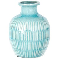 Seaside Cottage Ceramic Vase -- 9 in