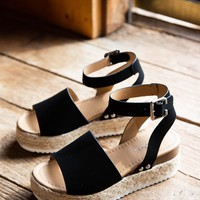 Topic Espadrille Platform Sandal, Black