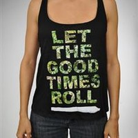 ''Let The Good Times Roll' Crossback Tank Top