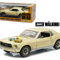 """1967 Ford Mustang Coupe \The Walking Dead\"""" 2010-2015 TV Series \""""Sophia Message Car\"""" with Hood Accessories 1/18 Diecast Model Car by Greenlight"""""""