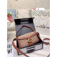 Coach Women Leather Shoulder Bag Satchel Tote Bag Handbag Shopping Leather Tote Crossbody Satchel Shouder Bag