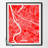Mannheim Print, Germany Poster, Mannheim Poster, Mannheim Map, Germany Print, Street Map, Germany Map, Home Decor, Wall Art