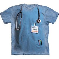 NURSES JOB Mountain Funny Help Your Ass Not Kiss It Scrubs Costume T-Shirt S-3XL