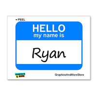 Ryan Hello My Name Is Sticker