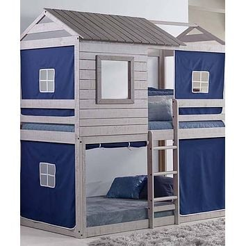 Jackson Fort Bunk Bed with Blue Tent