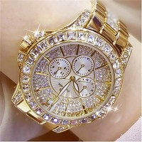 Fashion Women Quartz Rhinestone Diamond Casual Wristwatch for Ladies Diamond Watch