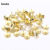 50pcs Colorful Metal Push Pins Assorted Paper Map Cork Board Capped Headed Fixing Thumb Tacks Pin Office School Supply