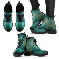 Sun and Moon Handcrafted Women's Leather Boots