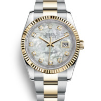 Rolex Datejust 36 Watch: Yellow Rolesor - combination of 904L steel and 18 ct yellow gold - 116233