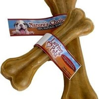 Loving Pets Nature's Choice Natural Compressed Rawhide Dog Bone 10.5""