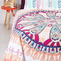 Boho Zzz's and Thank You Duvet Set in Full, Queen by ModCloth
